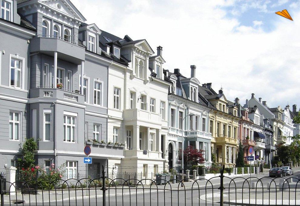 Casas tpicas en bergen noruega fotos de viajes for Casas en noruega
