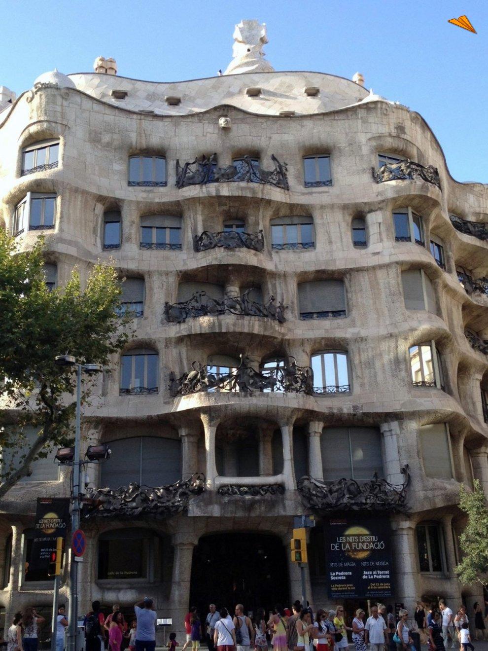 Casa mil la pedrera turismo en barcelona fotos de viajes - Apartamentos de vacaciones en barcelona ...