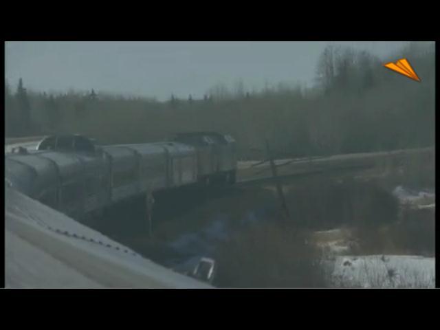 video Canadá, Alberta. Viaje en tren