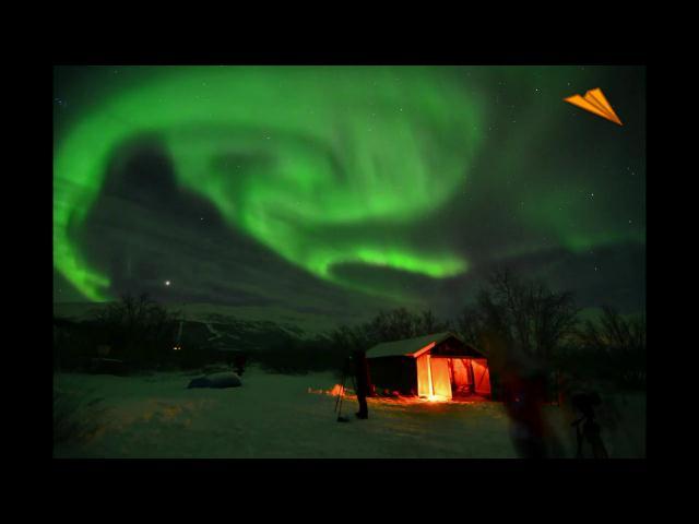 video Suecia, observación de auroras boreales