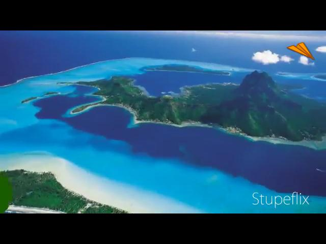 video Tahití, desde el aire (Polinesia Francesa)