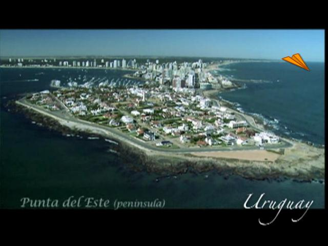 video Uruguay, la costa maritima desde el cielo